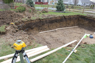 Fiberglass Pool Excavation