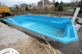 Filling Fiberglass Pool