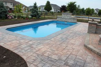 Fully Installed Fiberglass Pool