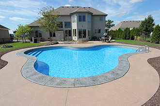 Pool Outline Dug for Concrete