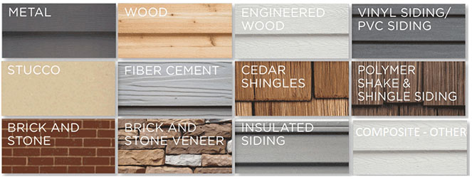 Building Siding Types