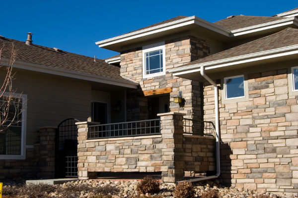Townhouse with Stone Siding